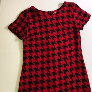 Red & Black Checkered Knit Dress Medium